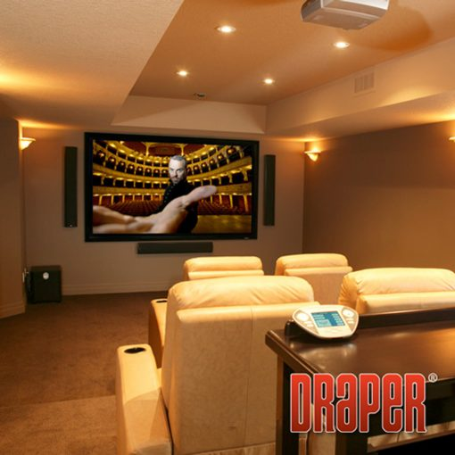 Layar Proyektor Draper Tensioned Fixed Screen Onyx (106 Diagonal)