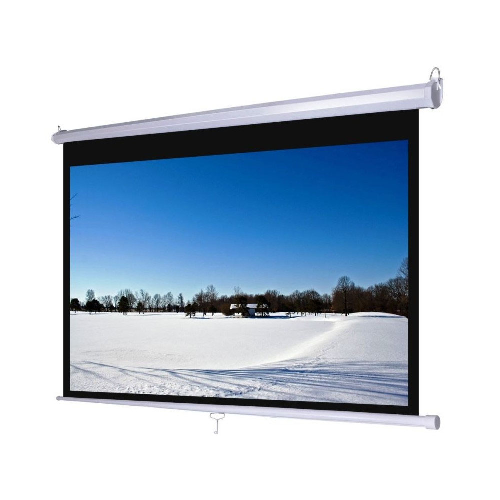 "Jual Layar D-Light Manual Pull Down Wall Screen 2121L (84"") Murah"