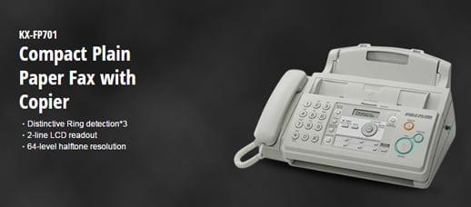 Banner Mesin Fax Panasonic KX-FP701